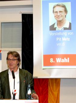 Pit Metz, DGB-Kreisvorsitzender gewählt am 12.12.2011