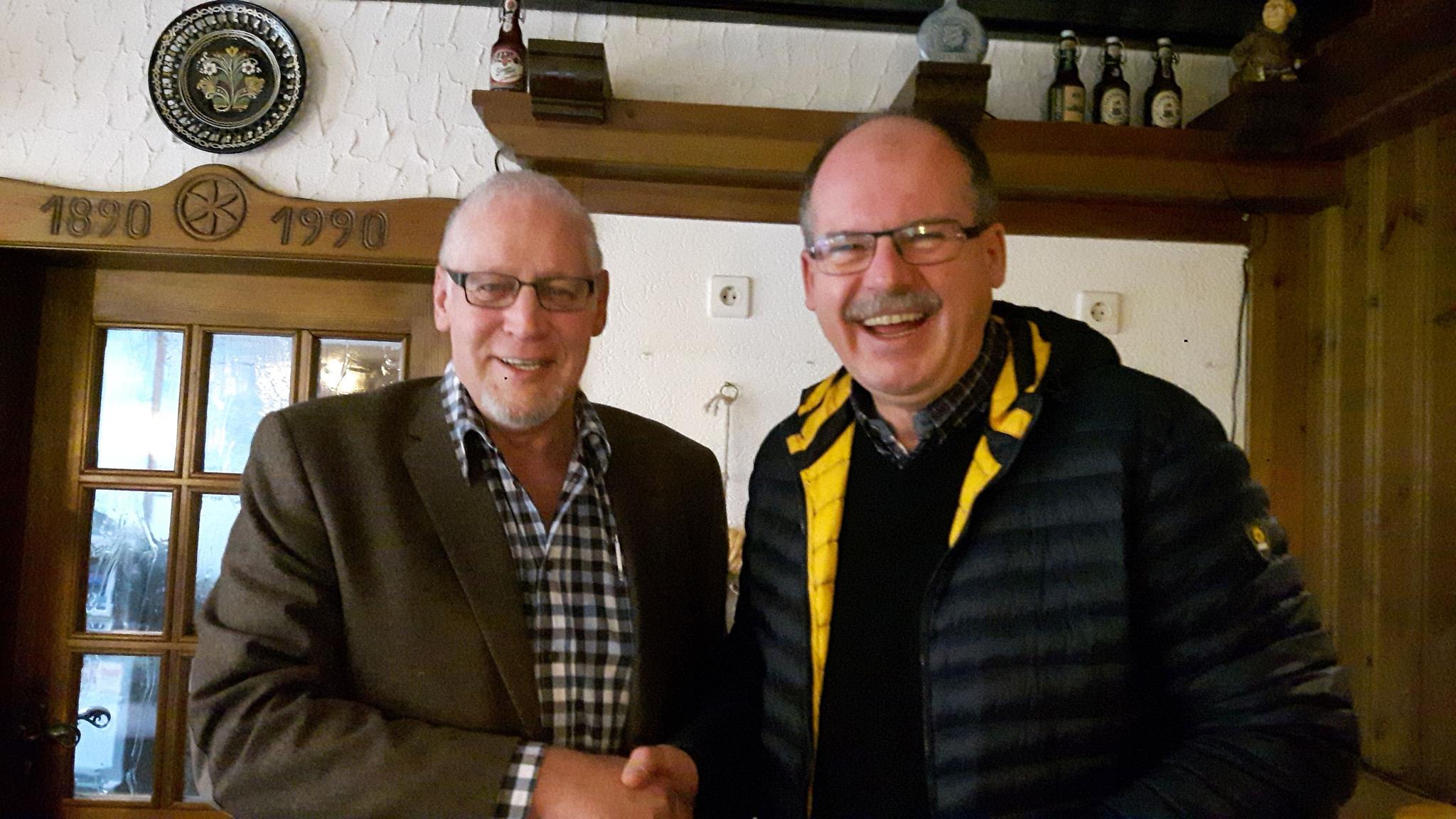 Ingo Schwalm und Stefan Körzell