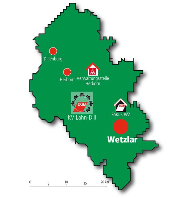 Karte DGBKreis Lahn-Dill