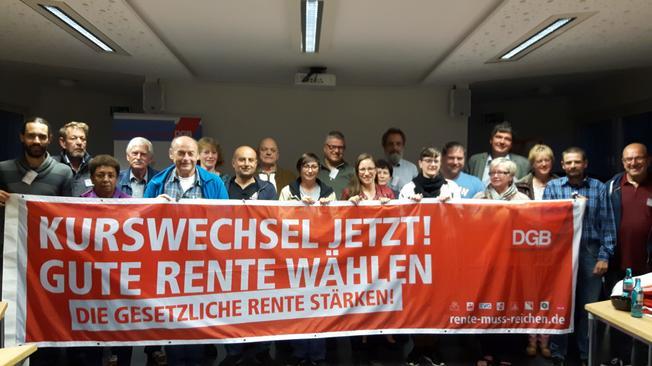 Delegierte DGB Kreiskonferenz Gießen und hauptamtliches DGB Team Mittelhessen.