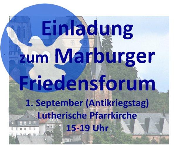Einladung zum Marburger Friedensforum